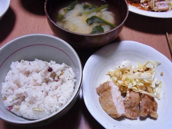 29穀米で夕飯