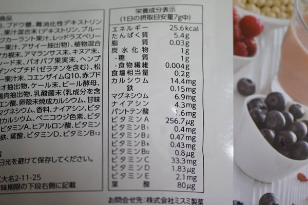 ファスタナ 栄養素