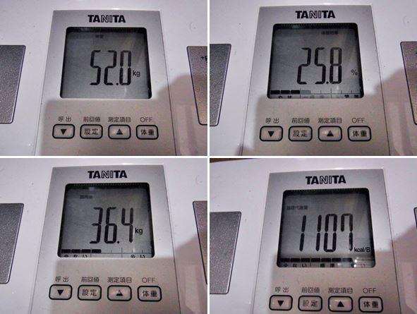 4日目の体重